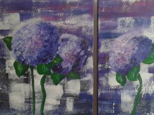 blaue Hortensien Detail
